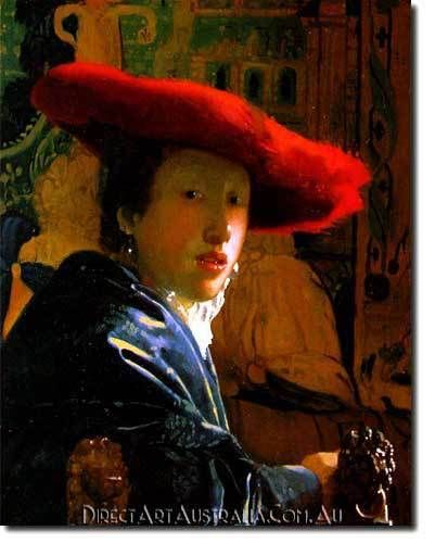 Jan Vermeer | The Girl with the Red Hat - Direct Art Australia,  Price: $199.00,  Availability: Delivery 10 - 14 days,  Shipping: Free Shipping,  Minimum Size: 50 x 60 cm,  Maximum Size : 100 x 150 cm,  Australian Owned and Operated - Local Contact.  www.directartaustralia.com.au/
