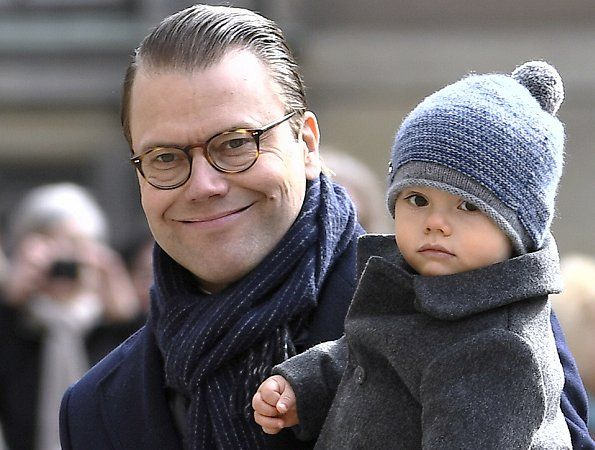 Crown Princess Victoria of Sweden, Prince Daniel and their two children Princess Estelle and Prince Oscar attended festivities to celebrate the Crown Princes's name day at the Royal Palace court yard on March 12, 2017 in Stockholm, Sweden. (Crown Princess Victoria wore BY MALENE BIRGER Aluda Blouse)