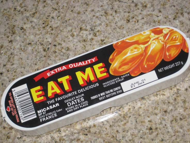 """""""Eat Me"""" dates from childhood Christmas' ...remember the twig that you had to eat them with?"""