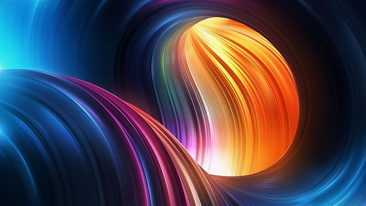Red And Multicolored Curve Wave Digital Wallpaper Abstract 3d Hd Wallpaper Digital Wallpaper Abstract Geometric Background