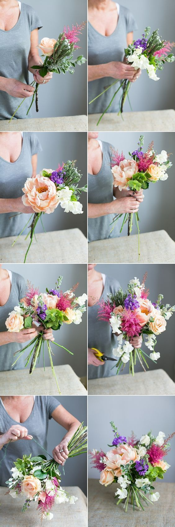 This floral DIY will help you create the best mixed spring bouquet ever! I love how easy and useful this guide is! #weddingfloral
