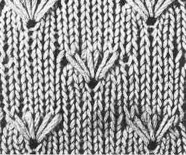 Encyclopédie des points de tricot. LE POINT de champ fleuri