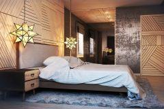 Дизайн спальни в стиле индастриал. Дизайнер Батенин Валентин.