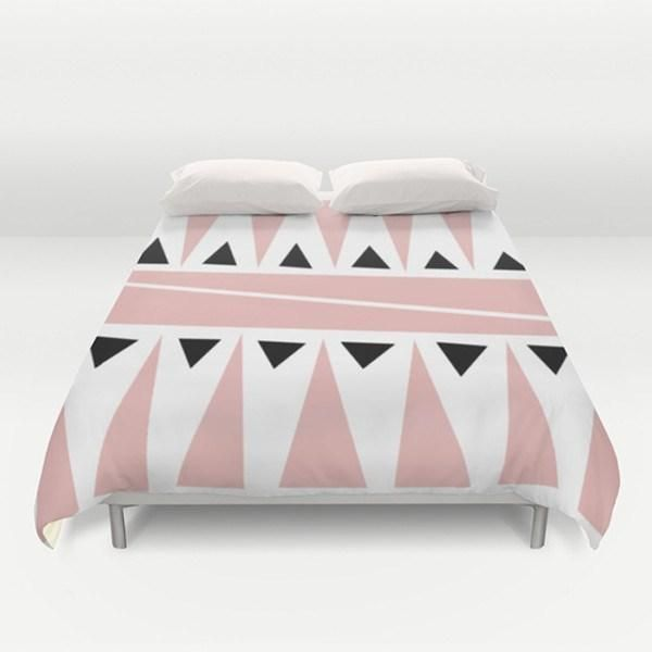 Modern Pink Duvet Cover