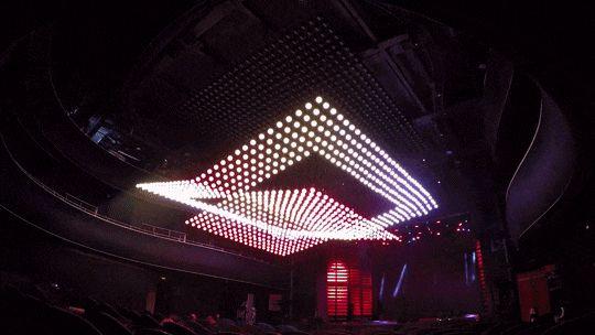 天井が波打ってるみたい!自在に動き光るLED照明がすごい! – ORBIS FLY | STYLE4 Design
