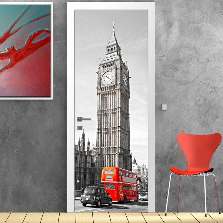 Big+Ben,London,+αυτοκόλλητο+πόρτας