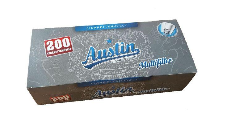 Pretul este pentru 1 cutie cu 200 tuburi pentru tigari Austin multifiltru, cu carbon activ.  Ambalaj:            200 tuburi tigari/cutie  Culoare filtru:     alb  Lungime filtru:    15 mm  Lungime totala:   84 mm  Diametru:            8  mm