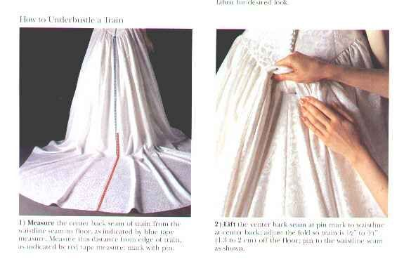 1000 images about how to make a bustle on pinterest my for How to make a wedding dress pattern