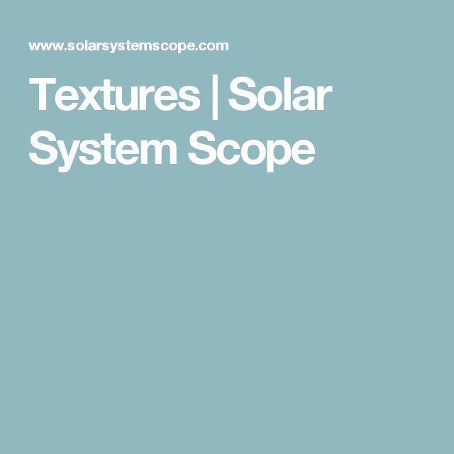 Textures | Solar System Scope