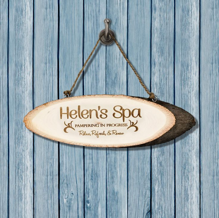 Personalised Relaxing Spa Wooden Sign - Bathroom Sign - Bathroom Decor by KiddiClub on Etsy
