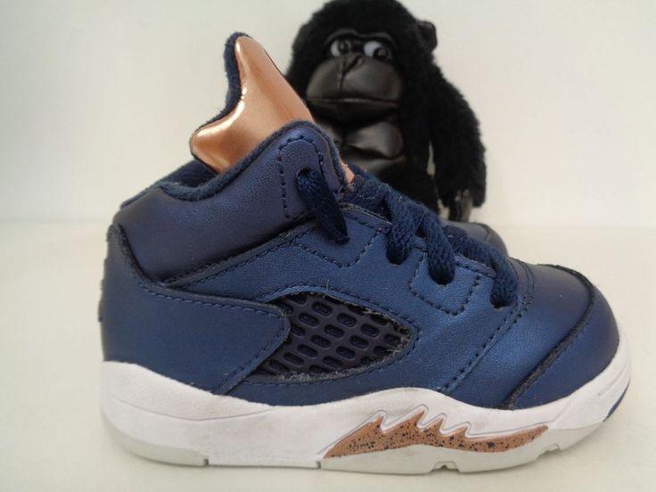 Babies Nike Air Jordan 5 Retro Basketball Shoes size 6C 440890-416 #Nike #