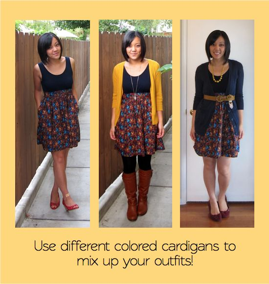 How to use pieces of your wardrobe to looks awesome all the time!    Putting Me Together: building a remixable wardrobe