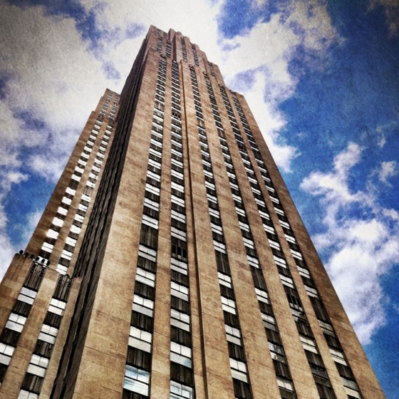 Rockefeller Plaza: we rode to the top