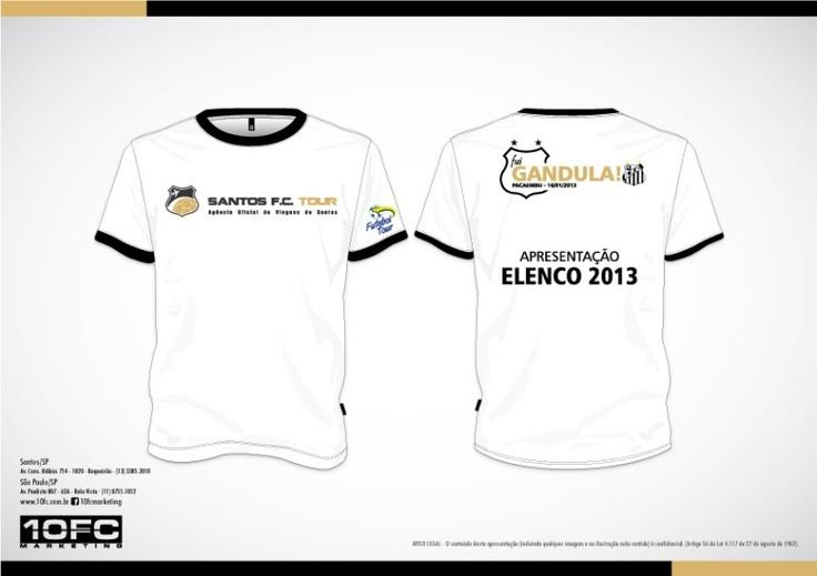 Camisa - Elenco 2013 - Santos FC
