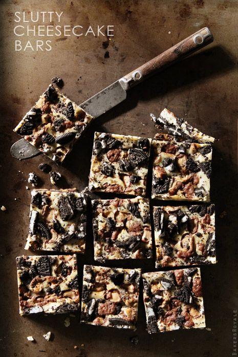 Slutty Cheesecake Bars via Bakers Royale @Sara Eriksson Baker Royale | Naomi