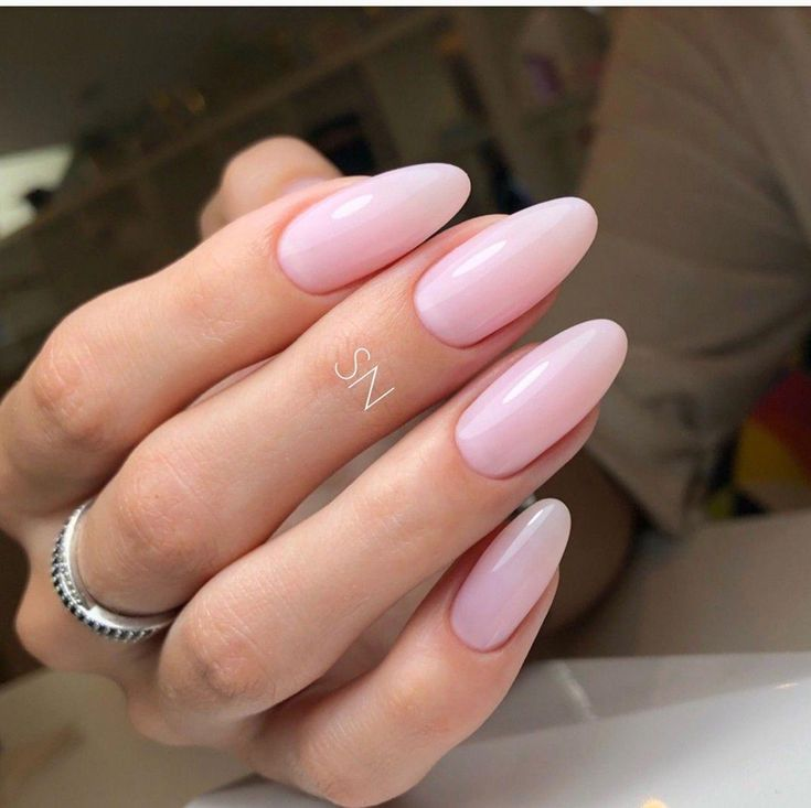 Light Pink Nails Coffin Long