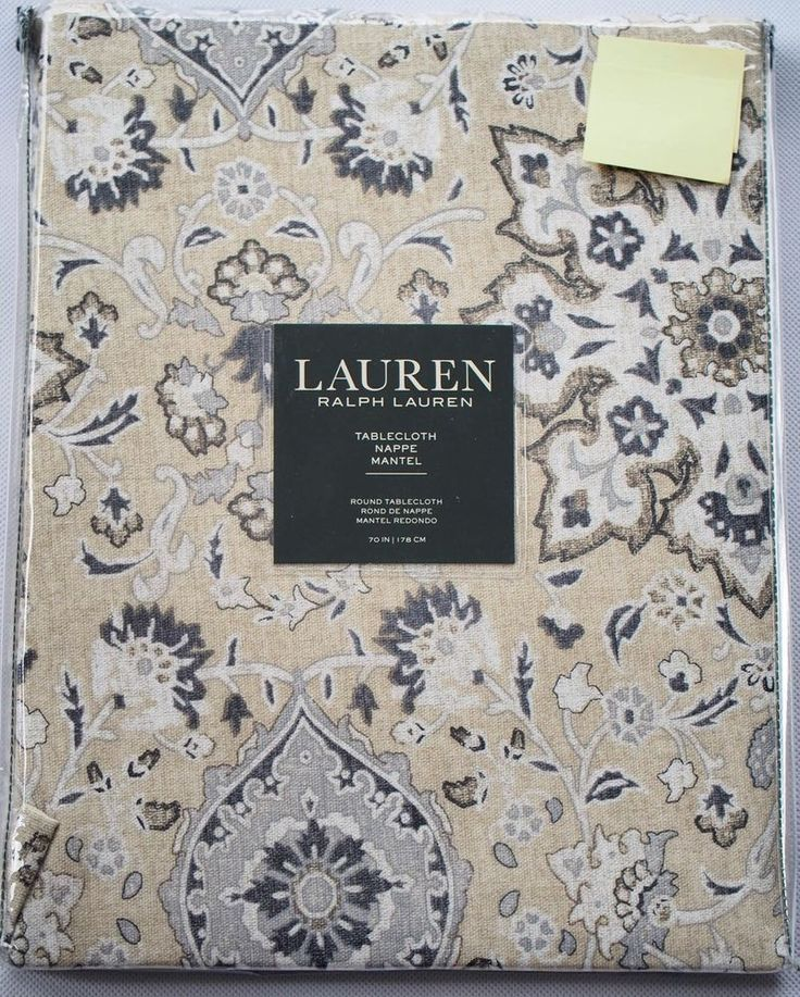 """Ralph Lauren Round Tablecloth 70"""" Chambers Medallion Floral New in Sealed Pack"""