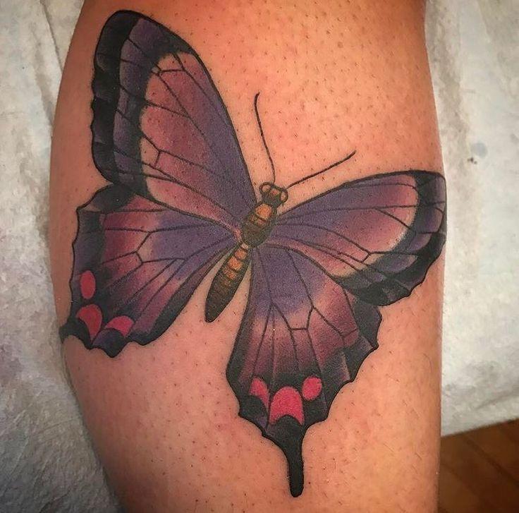 Butterfly tattoo by Kim Saigh at Memoir Tattoo