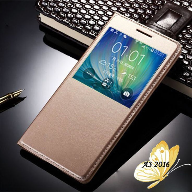 For Samsung A3 2016 Case Open Window View Flip Cover Case For Samsung Galaxy A3 2016 Case A3100 A310F Phone Cases Hoesje Para #Affiliate