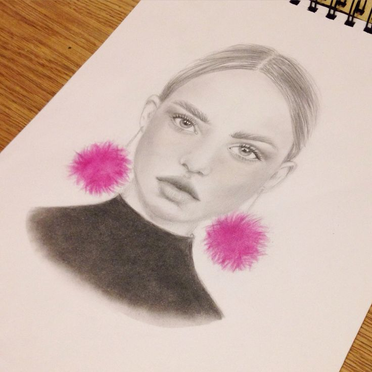 I'm learning to draw and I'm getting better :) graphite and the pink is me trying pan pastel