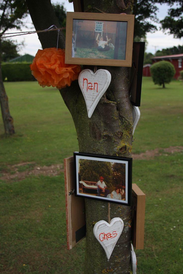 A family tree with pictures of those departed so they shared our day with us but didn't upset everyone with mentions in the speeches