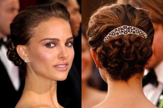 Best hair accessory, Natalie Portman, 2009 Academy Awards
