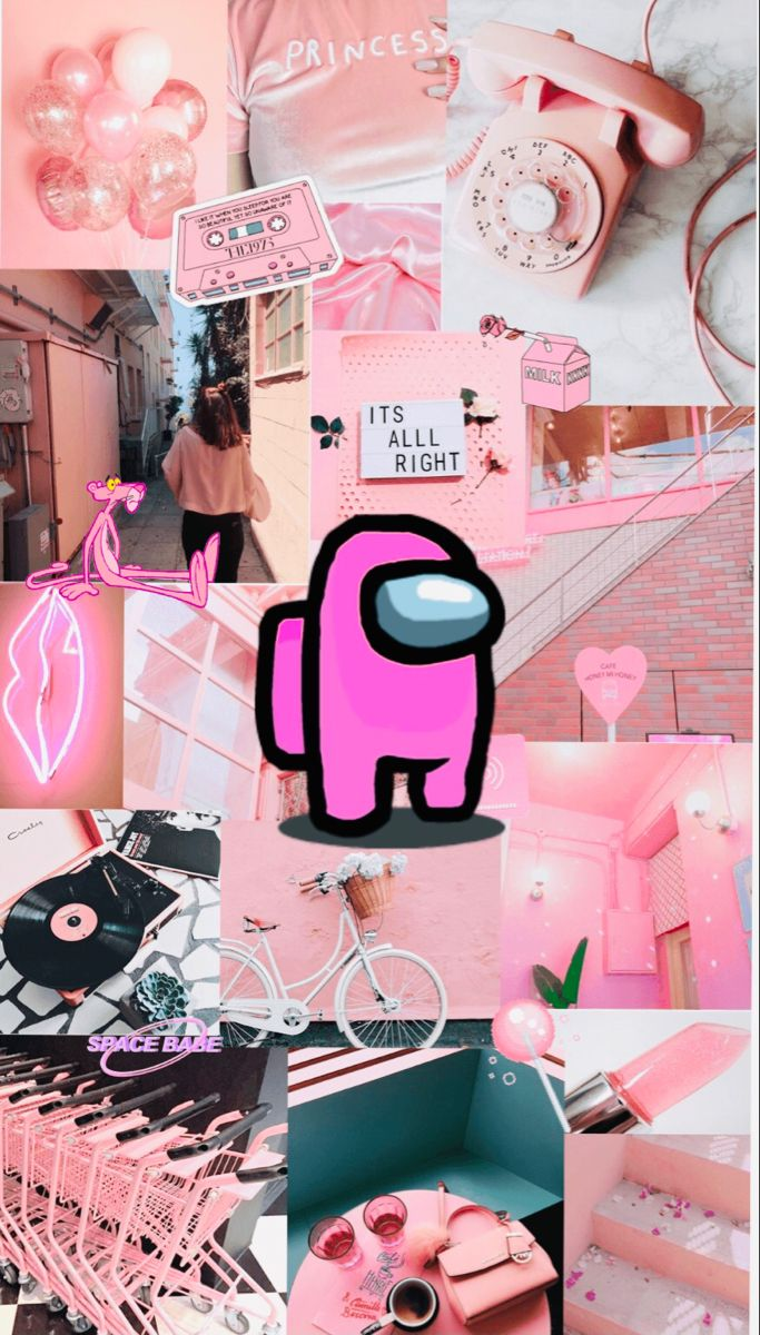 Among Us Wallpaper Light Pink Wallpaper Iphone Cute Aesthetic Iphone Wallpaper Pink Wallpaper Iphone