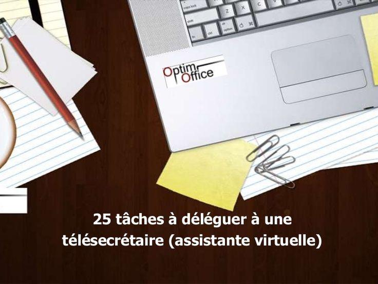 www.optimoffice.fr - 25 tâches à déléguer à une télésecrétaire indépendante (assistante virtuelle)