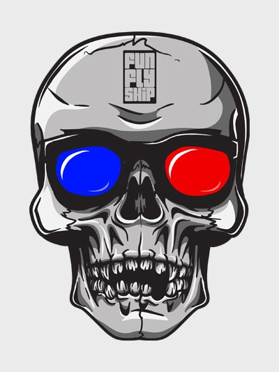 Camiseta de caveira com antigo óculos 3D – FunFlyShip http://funflyship.com/camiseta-de-caveira-com-antigo-oculos-3d-funflyship.html