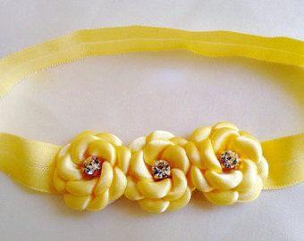Flower Headband Newborn Headband Newborn by LilMajestyBoutique