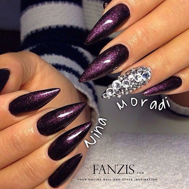 Deep purple nails