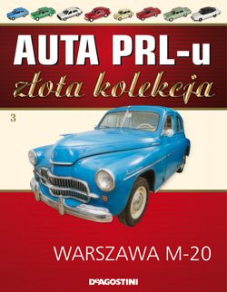 Słynna garbuska, czyli pierwszy powojenny seryjny samochód osobowy, produkowany na licencji radzieckiej Pobiedy. Z taśmy produkcyjnej zjechała w 1951 roku, w czasach mrocznego stalinizmu, rozświetlając  twarze smutnych obywateli. Warszawa M-20 cieszy się dzisiaj ogromnym zainteresowaniem, osiągając na aukcjach zawrotne ceny.