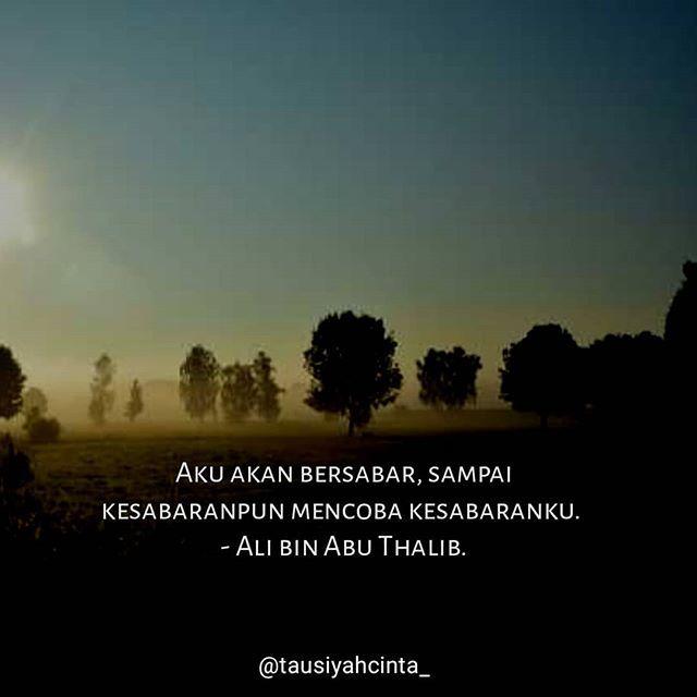 Aku Akan Bersabar Sampai Kesabaranpun Mencoba Kesabaranku Ali