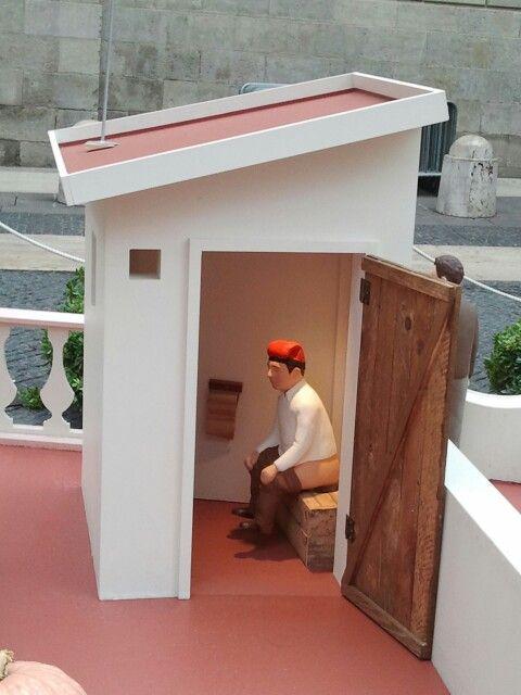 Caganer del pessebre de  Barcelona. Nadal 2013