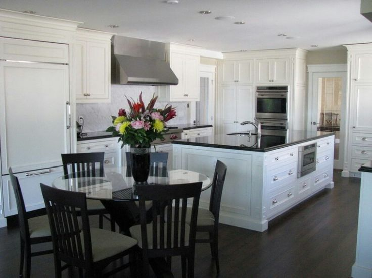 Dark Floors White Cabinets And Black Counters Love It