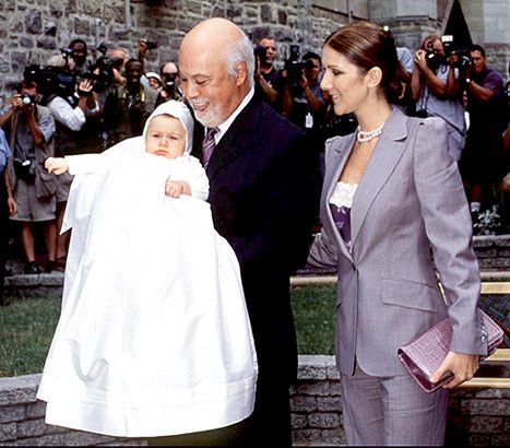 The christening of Rene Charles son of Celine Dion and Rene Angelil in 2001.
