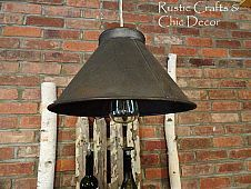 My Homemade Pendant Light From A Vintage Sifter