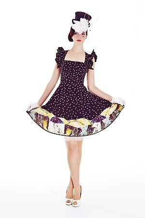 The Winning Ticket Dress in Umbrellas Print
