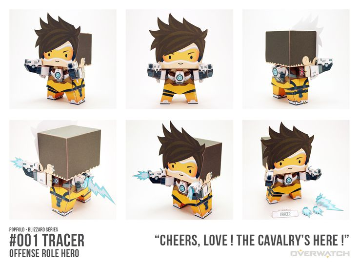 """""""Cheers Love, the cavalry's 'ere!"""" Trace from Overwatch in paper figure form #Blizzard #Overwatch"""
