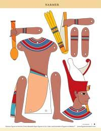 How fun is this?  a moveable action figure of Pharoah Narmer.