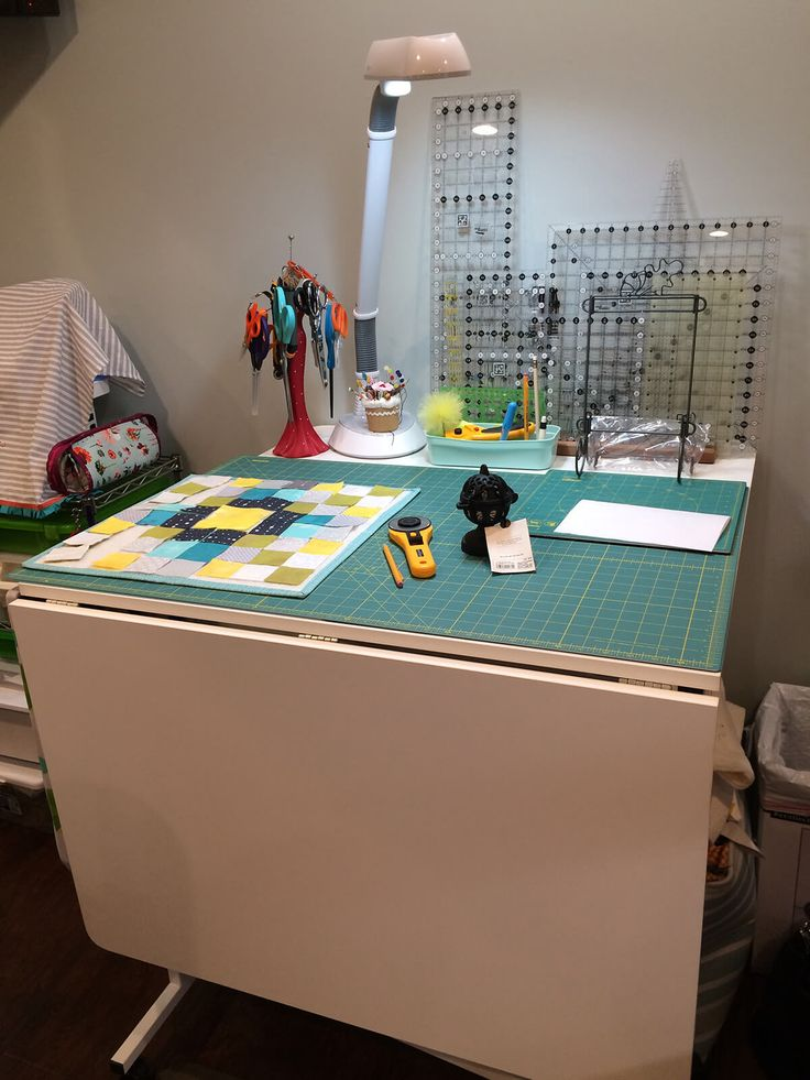 Sewing Room Tours: Ein erfolgreicher Umbau der Nähstube   – Sewing/craft room ideas