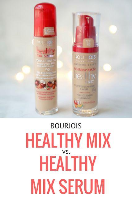 Bourjois Healthy Mix VS. Bourjois Healthy Mix Serum Gel Foundation