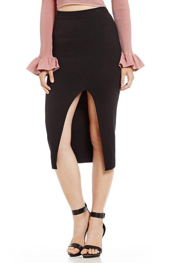 Gianni Bini Simone Midi Pencil Skirt