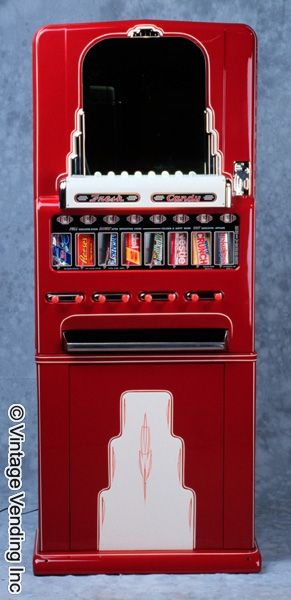 Old Vending Machine For Sale   1950s Stoner Univendor Theater Candy Vending Machine