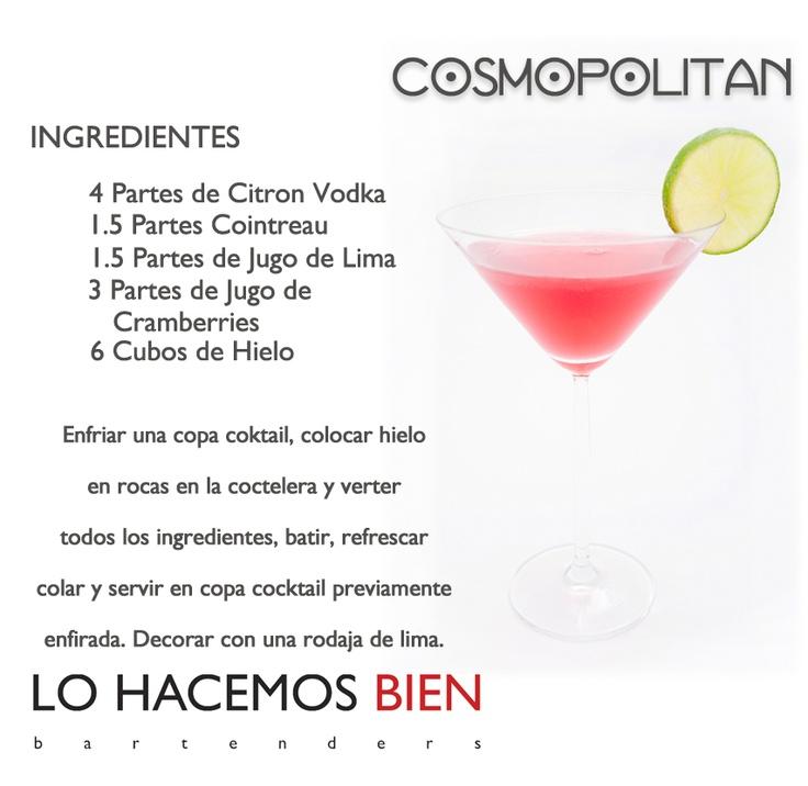 Cosmopolitan - Festejá con Estilo! de LO HACEMOS BIEN bartenders Como preparar un Cosmopolitan - Recipie How to prepare a Cosmopolitan Cocktail - Party with style!