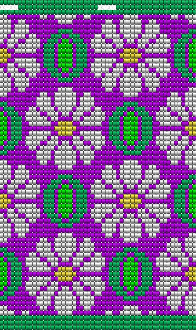 dit patroon is niet zelf ontworpen, maar is breder gemaakt zodat het op een bodem past voor Mochila te haken, het patroon heeft 50 steken, en 60 toeren, 4x op de bodem te haken