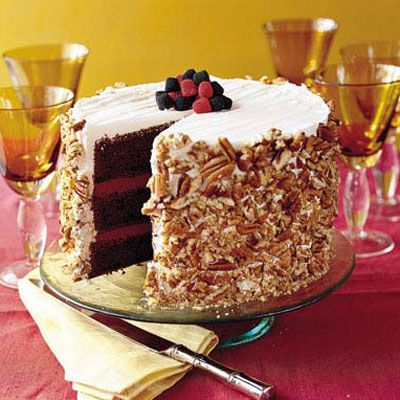 Blackberry-Raspberry Truffle Cake  (We've made this on and it's a family favorite.)