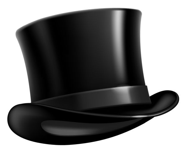 Black Top Hat PNG Clipart Picture