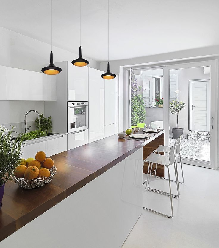 A 1-light led pendant from the Knoll collection