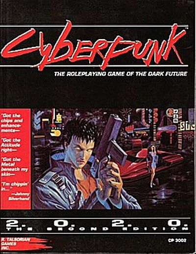 Cyberpunk 2020 RPG. OMG OMG this cover is giving me flashbacks and also WTAF 2020 is in 5.5 yrs. How did this happen?!
